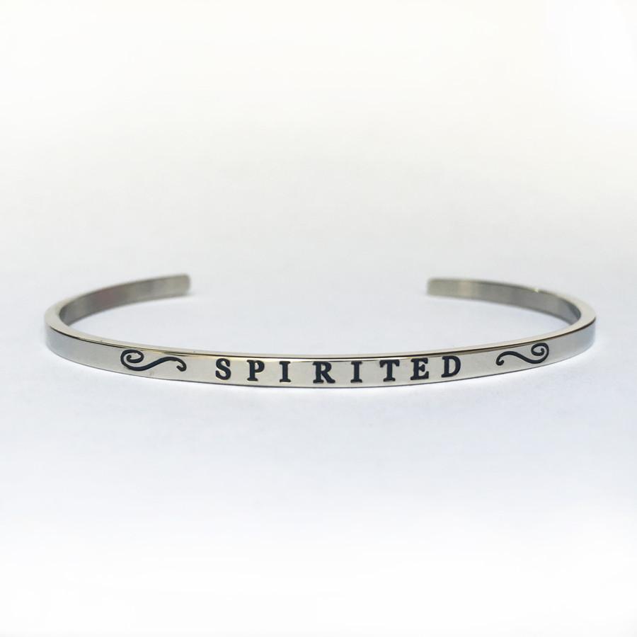 """""""SPIRITED"""" Stainless Steel Cuff Bracelet"""
