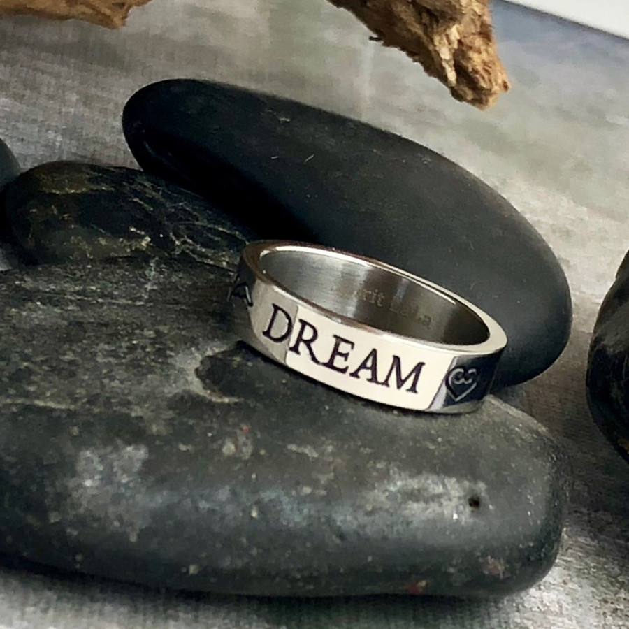 Dream Stainless Quote Ring