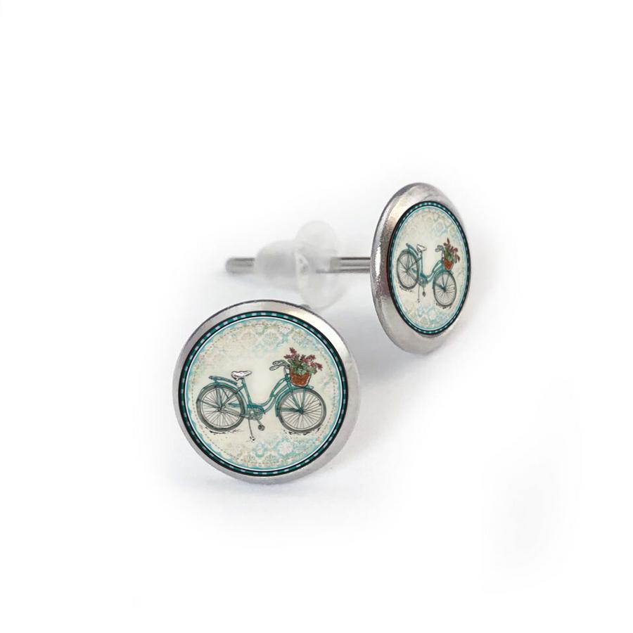 Beach Bike Stainless Stud Earring