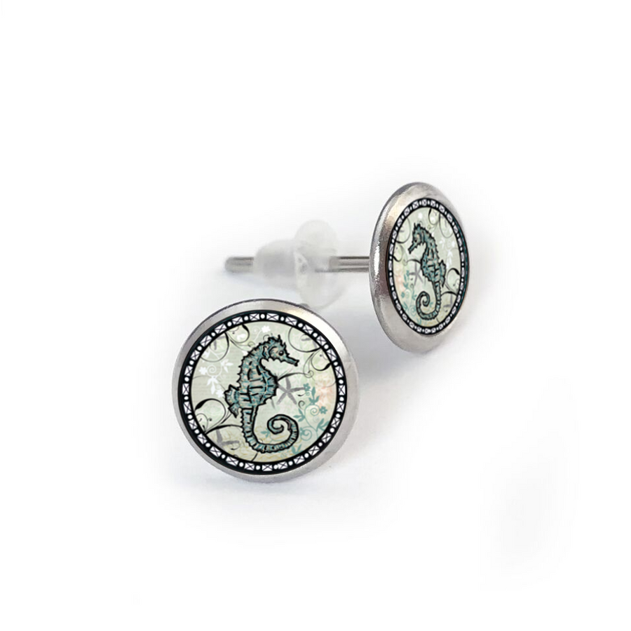 Seahorse Stainless Stud Earring