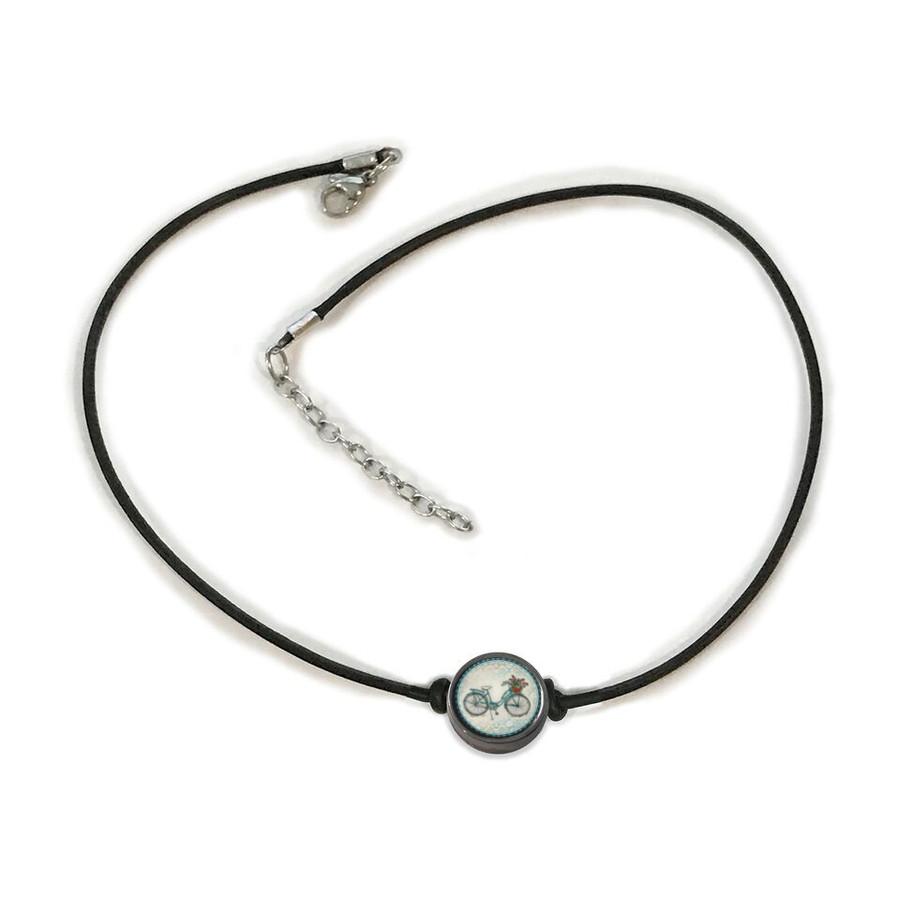 Beach Bike Choker Necklace