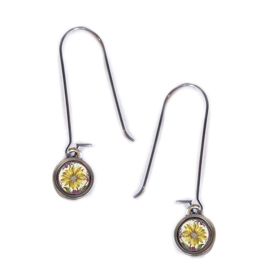 Sunflower Circle Earring