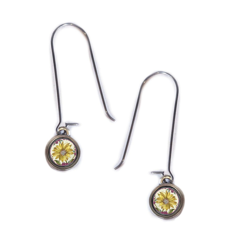 Sunflower Circle Earring