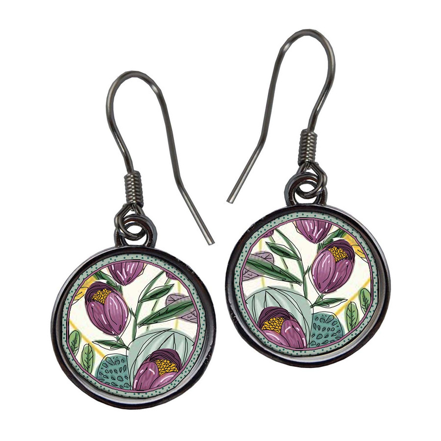 Organic Tulip Earrings