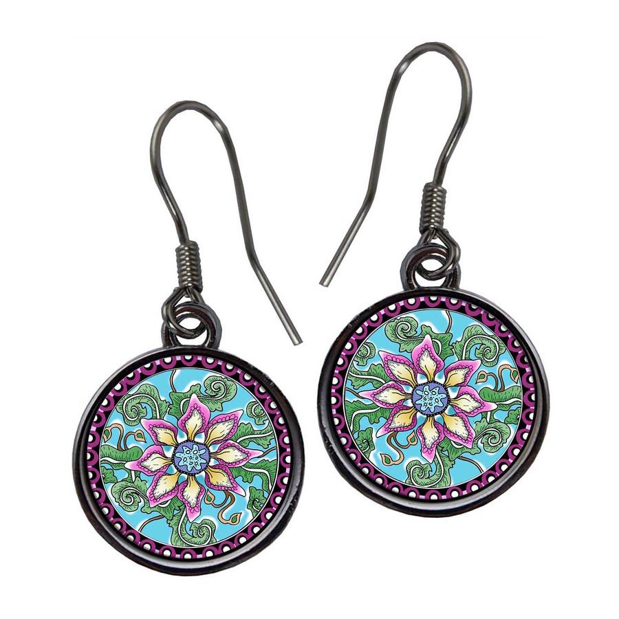 Passionfruit Flower Earrings