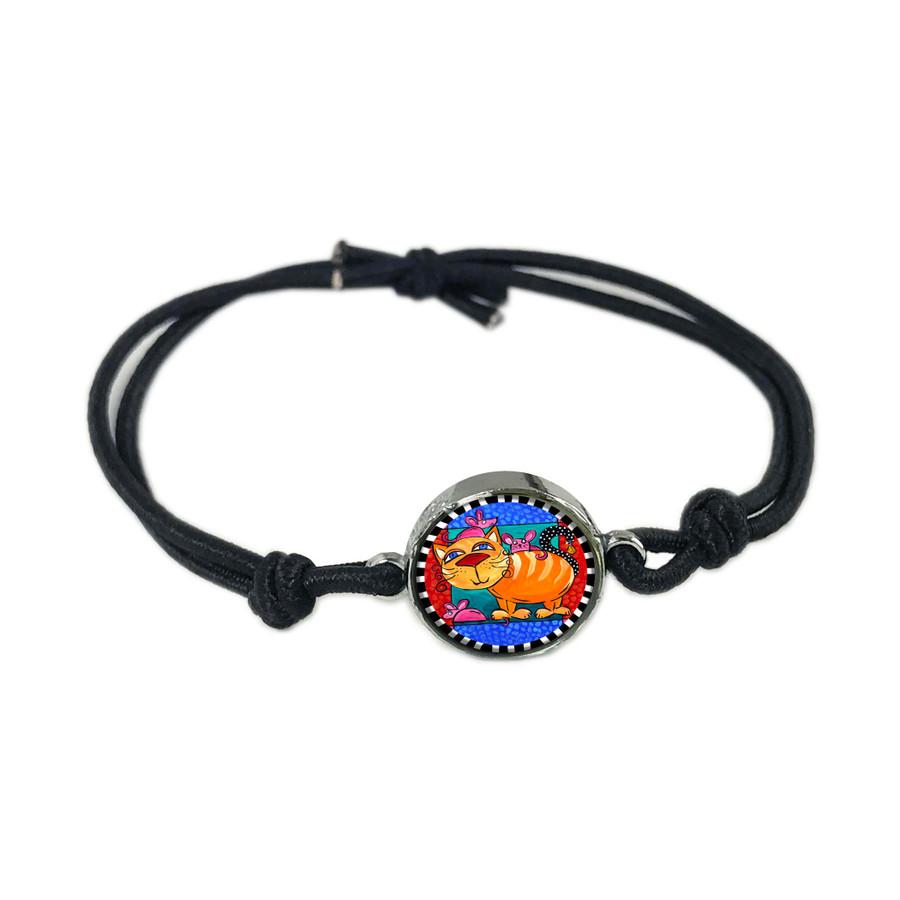 Cat Mouse Reversible Stretch Bracelet