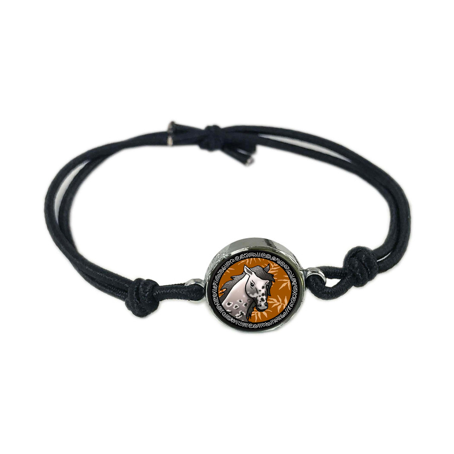 Horse Reversible Stretch Bracelet