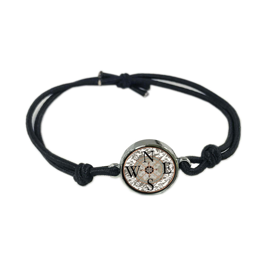 Compass Reversible Stretch Bracelet