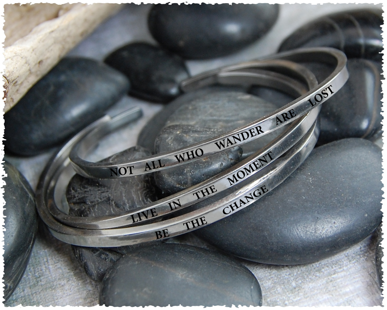 Quote Cuff Bracelet