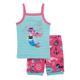 Hatley Sweet Mermaid Summer Pyjamas (Size 2 & 3 Years)
