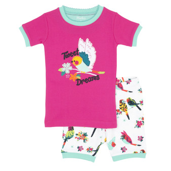 Hatley Tropical Birds Summer Pyjamas (Size 2 Years)
