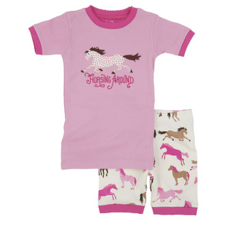 LBH by Hatley  Horsing Around Summer Pyjamas (Size 3 Years)