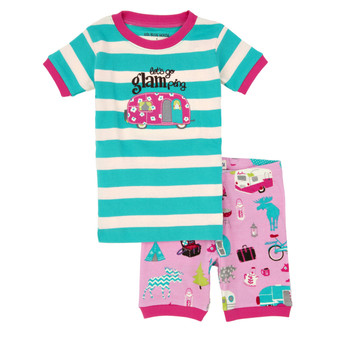 LBH by Hatley Glamping Summer Pyjamas (Size 3 and 4 Years)