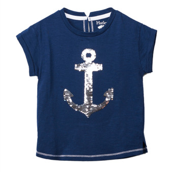 Hatley Flip Sequin Anchor Graphic Tee (Size 4 Years Sample)