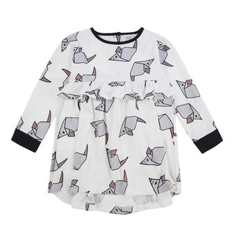 Turtledove Origami Dress (0-6M)