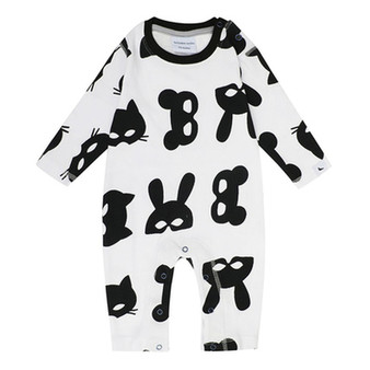 Turtledove Animal Mask Playsuit (NB-12M)