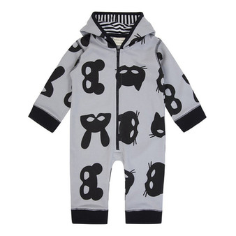 Turtledove Mask Print Outersuit (0M-12M)