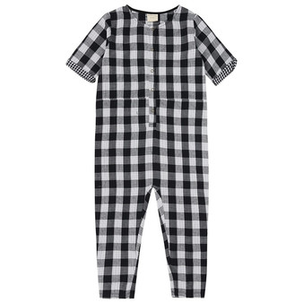 Turtledove Organic Cotton Check Lined Jumpsuit (Sample Size 4-5 Years)