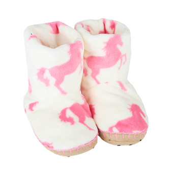 Hatley Playful Horses Fleece Slippers