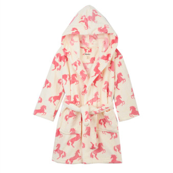 Hatley Playful Horses Kids' Fleece Robe (2-3 Years)