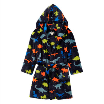 Hatley Dino Herd Kids' Fleece Robe (2-3 & 4-5 Years)