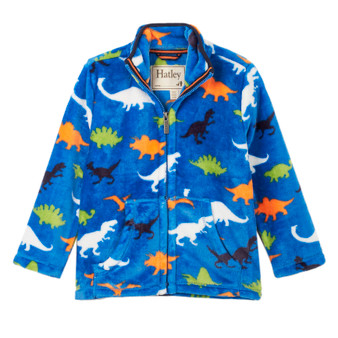 Hatley Dino Herd Fuzzy Fleece Zip Up (4-10 Years)
