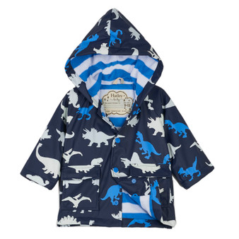 Hatley Dino Herd Colour Changing Baby Raincoat (9-12 Months)