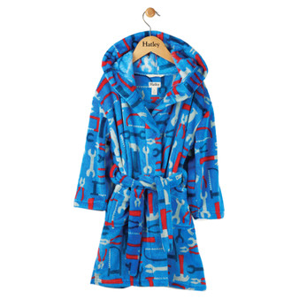 Hatley Lots of Tools Kids' Fleece Robe (8-10 Years)