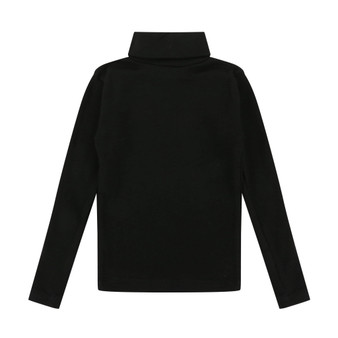Turtledove Black Ribbed Turtleneck Top (Sizes 1-4 Years)