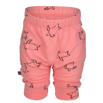 nOeser Organic Cotton Coral Turtle Shorts (NB-3M & 3-6Y)