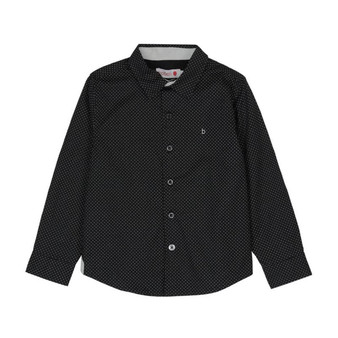 Boboli Chic Black with White Fine Dot Buttoned Shirt (Sample Size 4 Years)