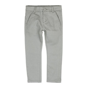 Boboli Chic Soft Stretch Thick Grey Textured Print Pants (Sample Size 4 Years)
