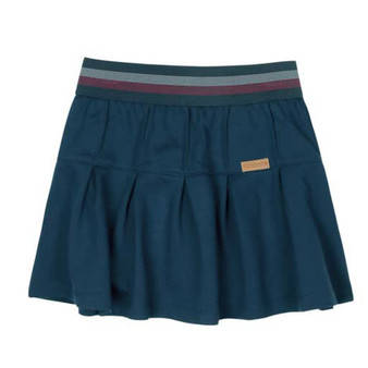 Boboli Roller Girl Navy with Stripe Waist Box Pleat Stretch Skirt (Sample Size 4 Years)