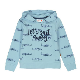 Boboli Sailor Soul Blue Fish Let's Sail Away Fleece Inner Hooded Sweater (Sample Size 4 Years)