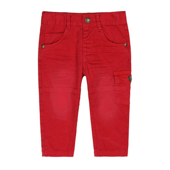 Boboli Wilderness Red Lined Cargo Pants (Sample Size 12 Months)