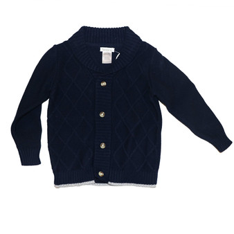 Beanstork Thick Knit Navy Cardigan (Size 3 Years only)