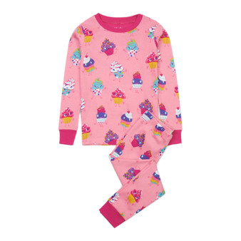 Hatley Dancing Cupcakes Organic Cotton Pyjama Set (Sizes 2-4 Years)