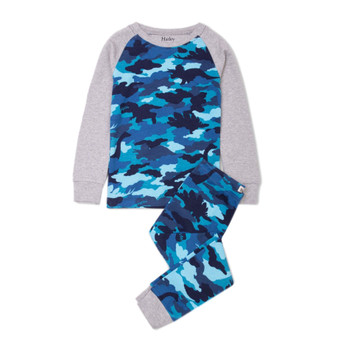 Hatley Dino Camo Organic Cotton Pyjama Set (Size 2 Years)