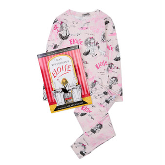 Hatley 'Books to Bed' Eloise Organic Cotton Pyjama & Book Gift Set (Sizes 3-5 Years)