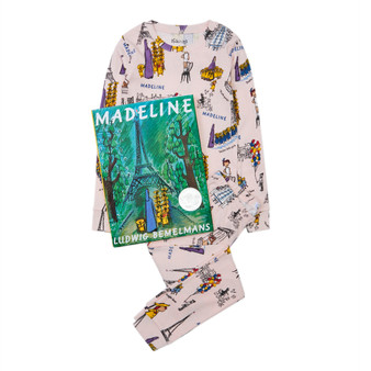 Hatley 'Books to Bed' Madeline Organic Cotton Pyjama & Book Gift Set (Sizes 4 & 5 Years)