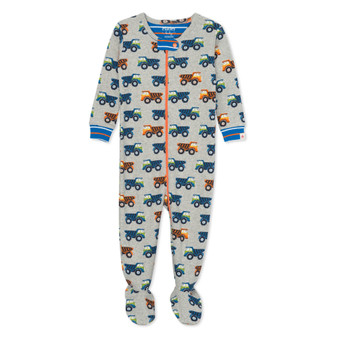 Hatley Dump Trucks Organic Cotton Footed Coverall (Size 9-12 Months Sample)