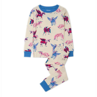 Hatley Mystical Unicorns Organic Cotton Pyjama Set (Sizes 2 & 7 Years)