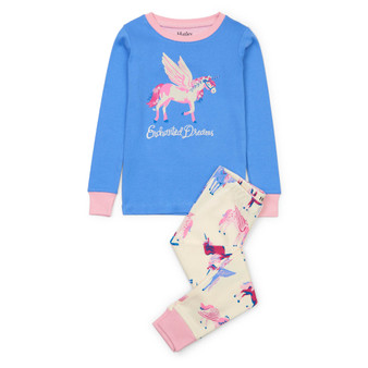 Hatley Mystical Unicorns Organic Cotton Applique Pyjama Set (Sizes 2-8 Years)