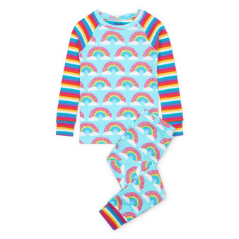 Hatley Magical Rainbows Organic Cotton Raglan Pyjama Set (Sizes 2-4 Years)