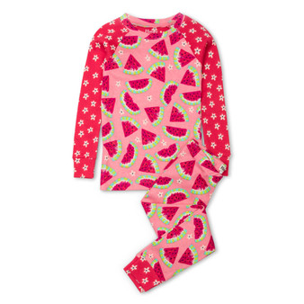 Hatley Watermelon Slices Organic Cotton Raglan Pyjama Set (Sizes 2-7 Years)