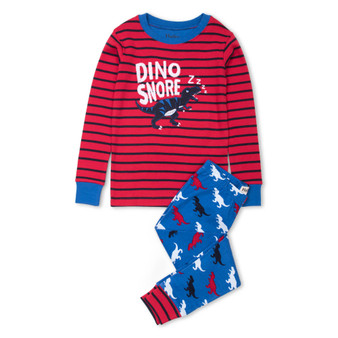 Hatley T-Rex Silhouettes Organic Cotton Appliqué Pyjama Set (Size 2 Years)