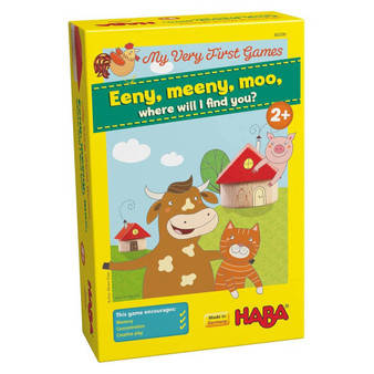 Eeny, Meeny, Moo, Where Will I Find You? HABA Children's Board Game (Age 2 +)