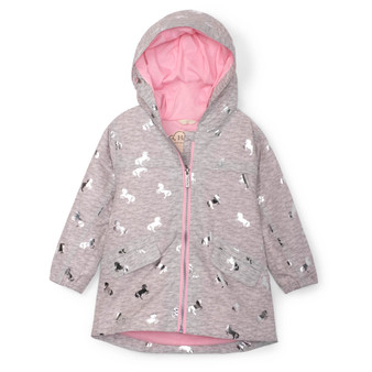 Hatley Playful Ponies Microfiber Rain Jacket (Sizes 4 & 5 Years)