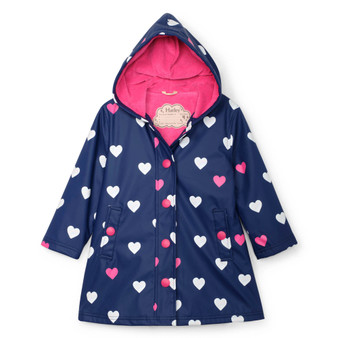 Hatley Striped Hearts Colour Changing Splash Jacket (Sizes 5 Years)