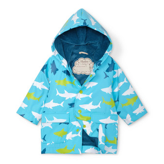Hatley Great White Sharks Baby Raincoat (Sizes 9-12 Months)